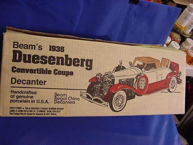1935 DUESENBERG CONVERTIBLE COUPE DECANTER JIM BEAM