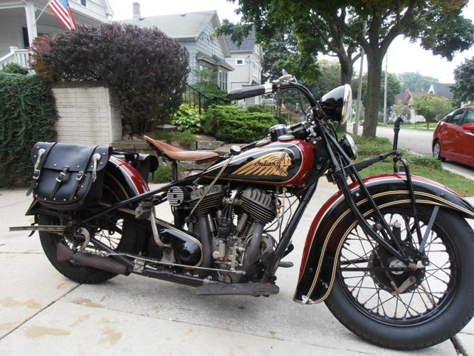 1936 Indian Chief 74 Maroon