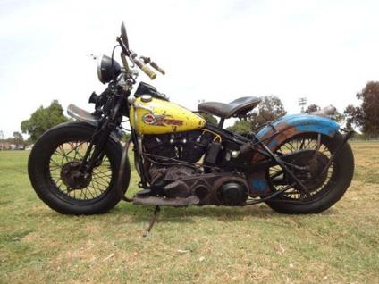 1937 Harley Davidson Elknucklehead Matching Belly For Sale In