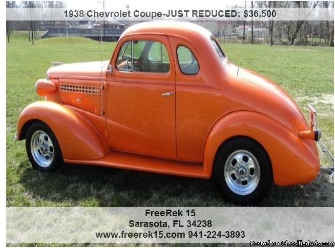 1938 chevrolet coupe for sale in sarasota florida classified. Black Bedroom Furniture Sets. Home Design Ideas