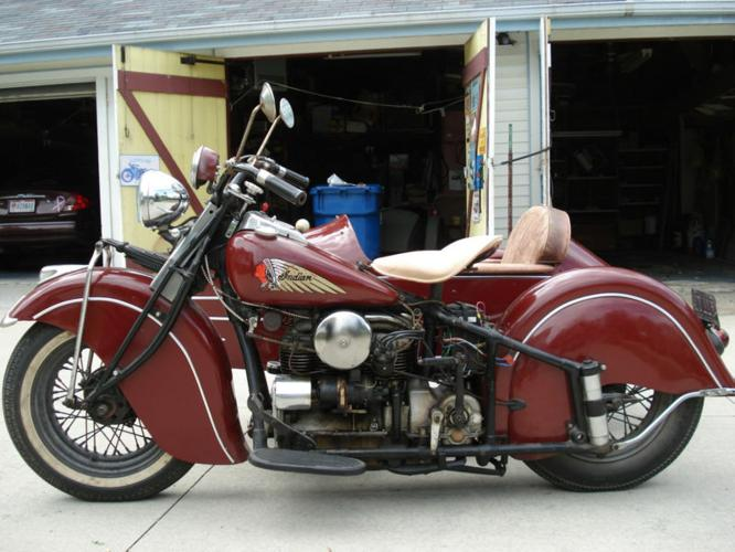 1940 Indian Four 4-Cylinder with Indian Sidecar