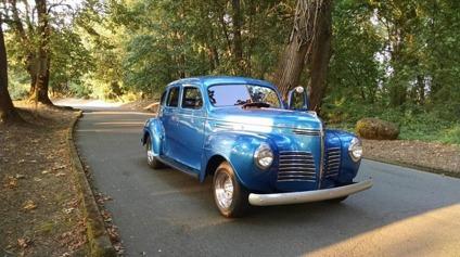 1940 plymouth roadking blue classic car 4 door for sale in draper utah classified. Black Bedroom Furniture Sets. Home Design Ideas