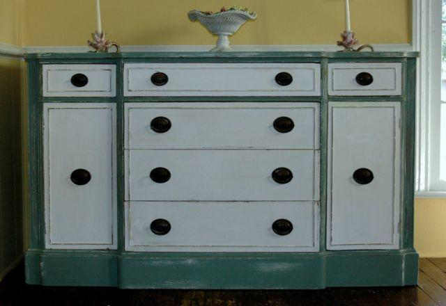 1940's DREXEL Buffer Cabinet Chest Server Shabby Chic