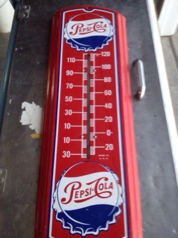 1940 S Red Pepsi Thermometer For Sale In Hammond