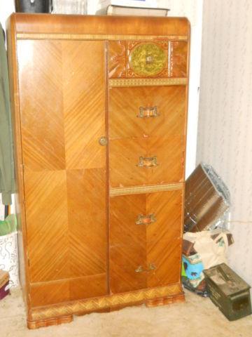 1940s wardrobe closet and makeup stand