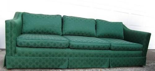 1940s Vintage Sofa Couch Davenport Long Hollywood Regency