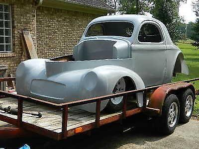 1941 WILLYS FIBERGLASS COUPE AND CHASSIS With TRAILER