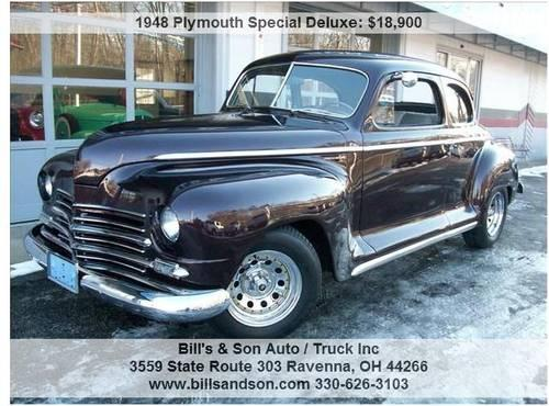 1948 Plymouth Special Deluxe 2dr Club Coupe