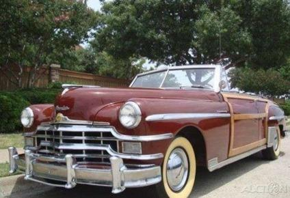 1949 chrysler town country convertible 1 of 80 left for sale in greenville south carolina. Black Bedroom Furniture Sets. Home Design Ideas
