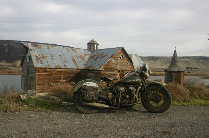 1949 Harley Davidson WD-45 Flat Head Green on