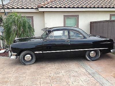1950 ford custom coupe 2 door v8 black manual transmission for sale in alton texas. Black Bedroom Furniture Sets. Home Design Ideas