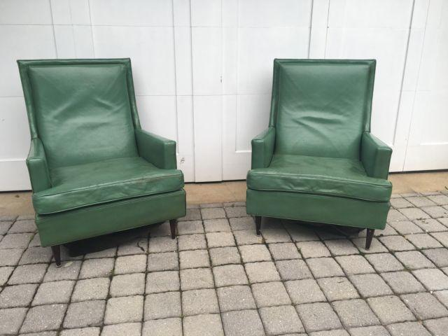 1950's Custom Made Vintage Leather Chairs