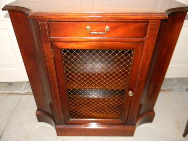 1950's Genuine Mahogany Entryway Console Cabinet by