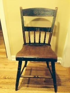 1950's stenciled dining chairs