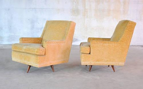 1950s mid century danish modern lounge easy chair vintage for Mid century furniture florida