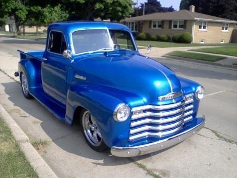 1951 chevy truck 5 window all steel with airride for sale