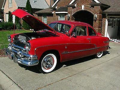 1951 ford custom 2 door businessmans coupe red and great for 1951 ford 2 door sedan