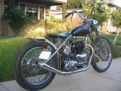 1951 Triumph Pre Unit Custom Survivor Show Bike Motorcycle