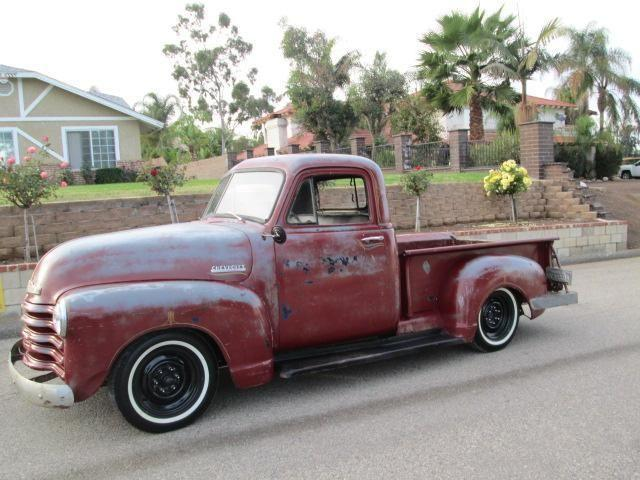 1952 chevy 3100 pickup truck short bed chevy truck for sale in corona california classified. Black Bedroom Furniture Sets. Home Design Ideas