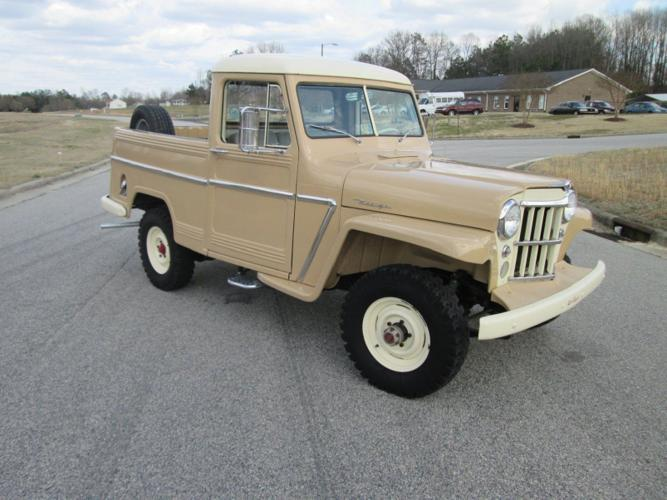 1954 willys jeep pick up truck tan for sale in dallas texas classified. Black Bedroom Furniture Sets. Home Design Ideas