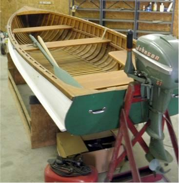 1954 Wooden Shell Lake 14 Ft Fishing Boat Not Restored Original