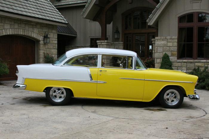 1955 Chevrolet Bel Air 150 210 Yellow