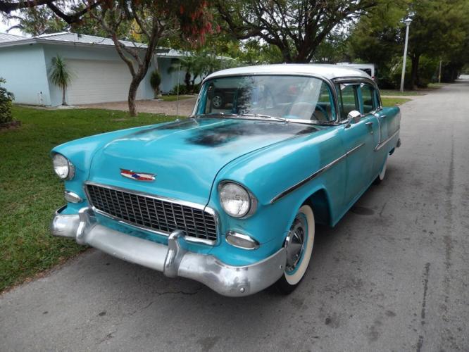 1955 chevrolet bell air 150 210 4 door rwd for sale in for 1955 chevy 4 door for sale