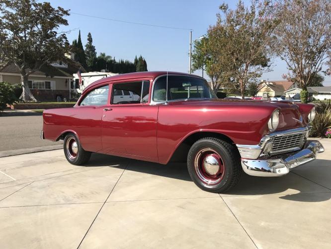 1956 Chevrolet Bel Air 2 Door Sedan Maroon & 1956 Chevrolet Bel Air 2 Door Sedan Maroon for Sale in Gainesville ...