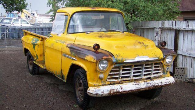 1956 chevy 3100 pickup very rare 1 ton step side pickup truck for sale in antonito colorado. Black Bedroom Furniture Sets. Home Design Ideas