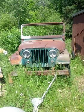 1956 jeep cj 5 project for sale in ely minnesota classified. Black Bedroom Furniture Sets. Home Design Ideas