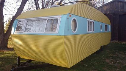 1957 Airfloat Landyacht Vintage Travel Trailer For Sale In
