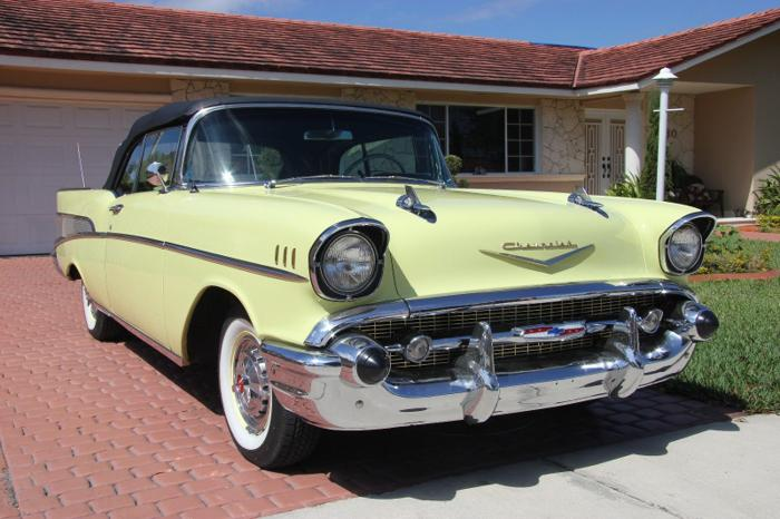 1957 Chevrolet Bel Air150210 Yellow Convertible For Sale In Marina