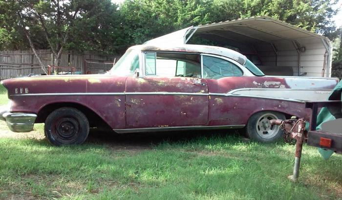1957 chevy 2dr hardtop project belair v8 400 rare factory surf