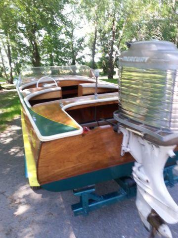 1957 Dunphy 14ft Wood Boatmark 75 Mark Marathon