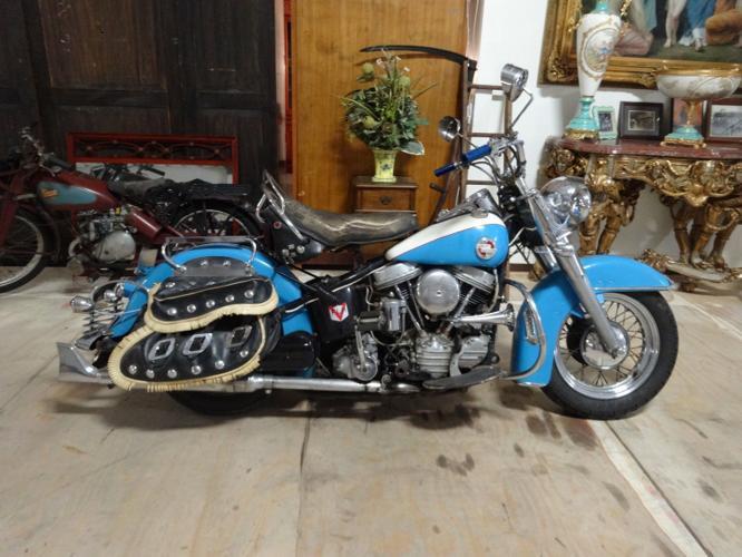 1957 Harley Davidson FLH Panhead EVO