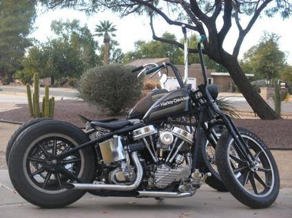 1957 Harley Davidson Panhead Numbers Match Black