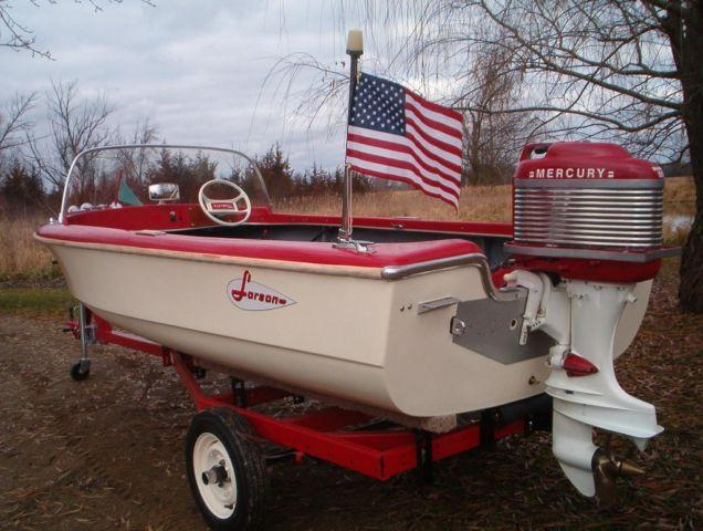 1957 larson boat 1957 mercury motor and trailer for sale for Boat motor parts near me