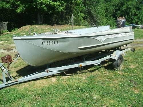 1957 wolverine 16 39 aluminum boat for sale in bryan for Best aluminum fishing boat for the money