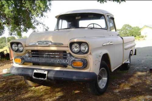 1958 Chevy Apache Long Bed Fleet Side For Sale In Banta California