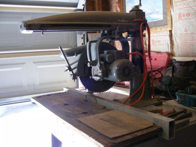 1958 Dewalt Industrial Radial Arm Table Saw Us Army Corp