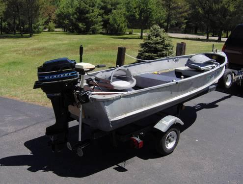 1959 12 foot alumicraft boat with mercury 7 5 motor for for Outboard motors for sale in wisconsin