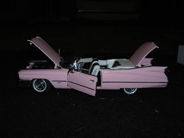 1959 Cadillac Series 62 Pink Convertible Danbury Mint For Sale