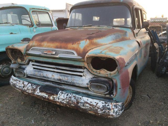 1959 chevy apache 3100 panel truck for sale in glendora california classified. Black Bedroom Furniture Sets. Home Design Ideas