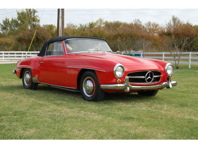 1959 Mercedes-Benz 190SL  Convertible Red