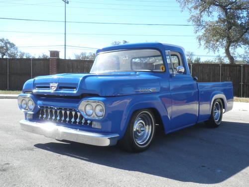 1960 Ford F100-shortbed-royal blue/ pearl white-custom