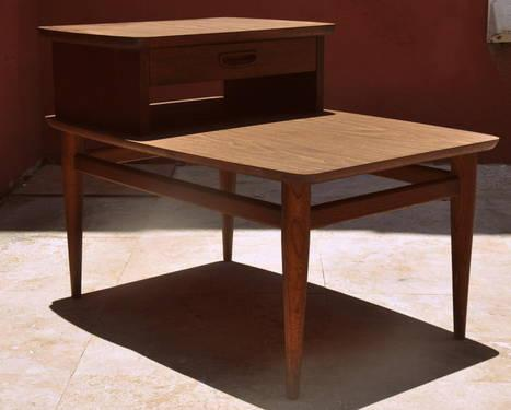 1960's Lane Danish Modern Mid-Century End Side Teak