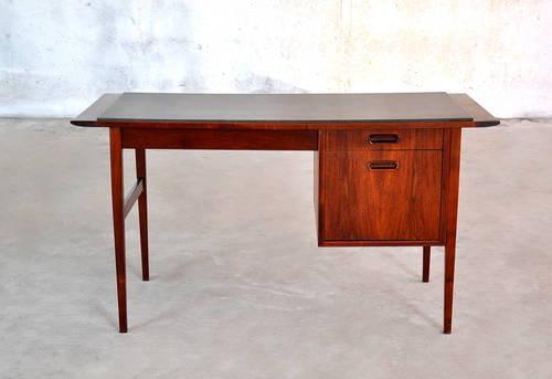 1960s Danish Modern Teak U0026 Slate Desk Vintage