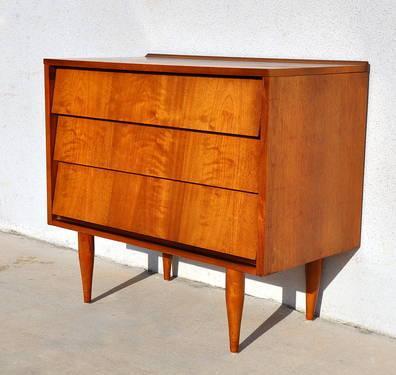 1960s Mid Century Danish Modern Dresser Vintage Chest of