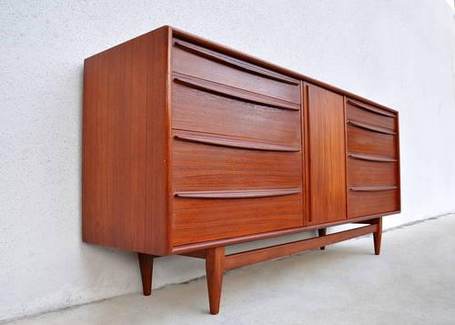 Danish Credenza For Sale : S mid century danish modern falster credenza buffet bar