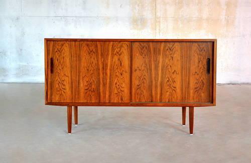 Mid Century Danish Credenza : 1960s mid century danish modern rosewood credenza buffet vintage bar